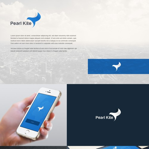 Airline and flight logo with the title 'Guaranteed Logo for Social Network Needed - Pearl Kite'