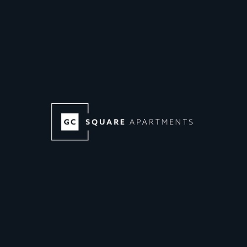 Apartment logo with the title 'GC Square Apartments Logo'