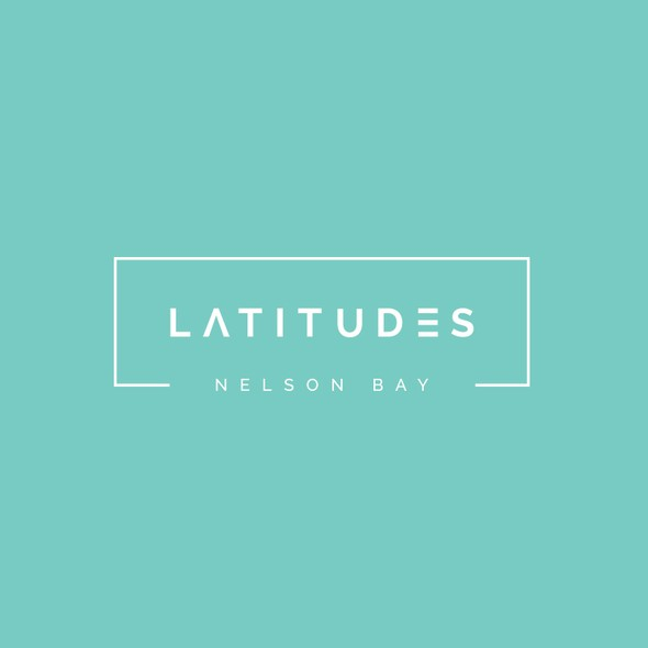 Mint green logo with the title 'Logo for a waterfront apartment community'
