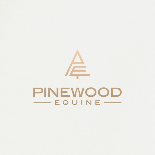 Gold tree logo with the title 'Pinewood Equine'