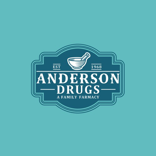 Pharmacy logo with the title 'Anderson drugs'