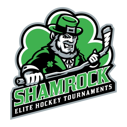 Hockey puck logo with the title 'SHAMROCK HOCKEY'