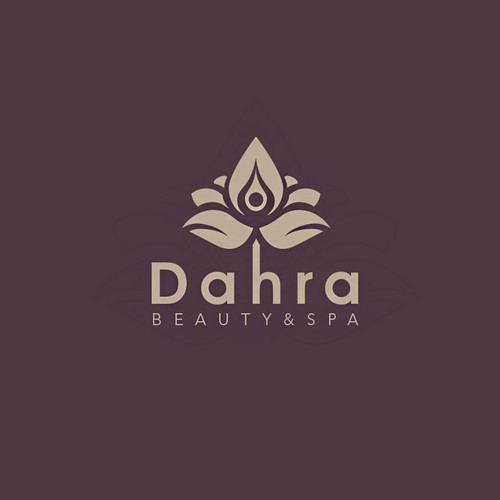 Lotus design with the title 'Dahra Spa Logo Concept'