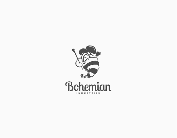 Worm design with the title 'Bohemian Industries'