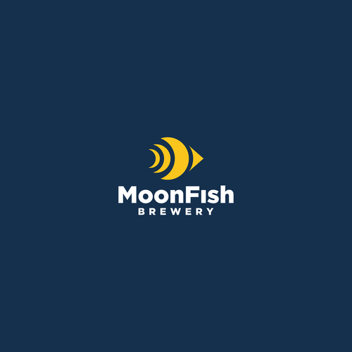 Moon brand with the title 'MoonFish logo concept'