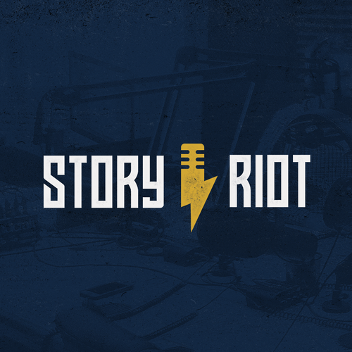 Insignia logo with the title 'Story Riot'