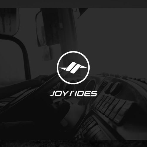 """Horse riding logo with the title 'Logo for """"JoyRides""""'"""