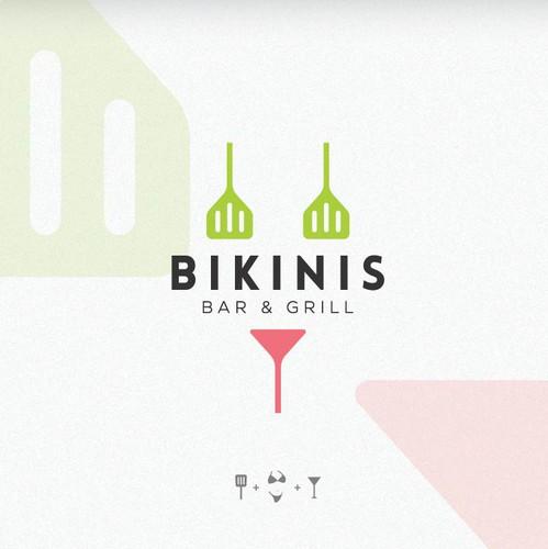 Bikini design with the title 'Bikini, Bar & Grill'