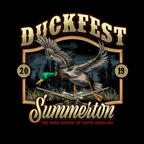 Festival t-shirt with the title 'DUCKFEST'