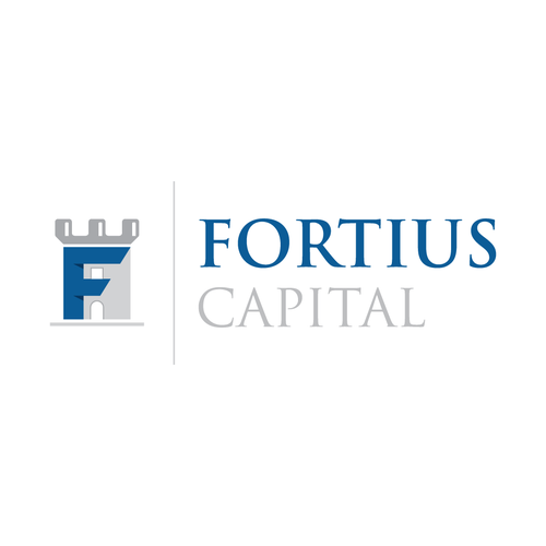 Fusion design with the title 'Logo concept for Fortius Capital'