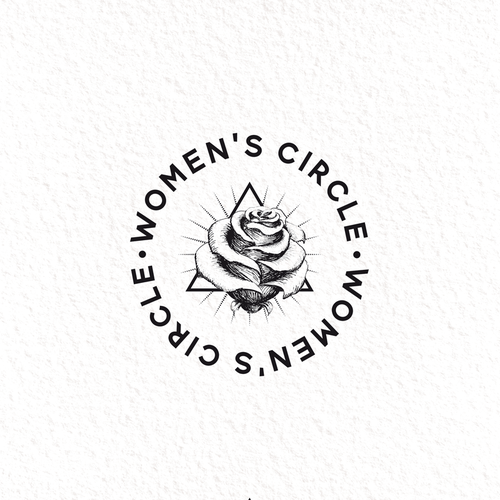 Healing logo with the title 'women`s circle'