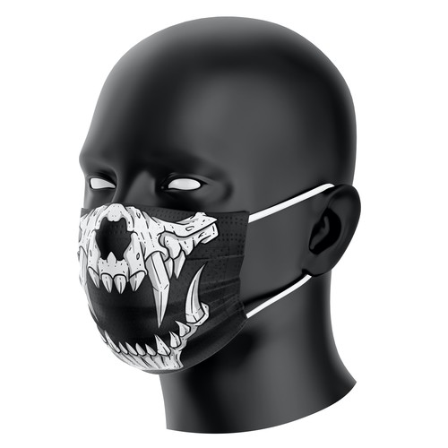 Surgical design with the title 'Skull Mask'