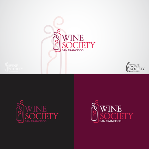 Wine bottle design with the title 'Wine Society'