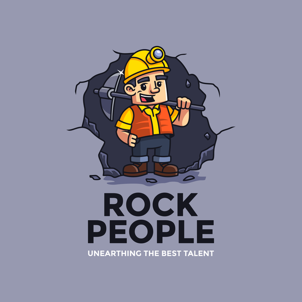 Miner design with the title 'Rock People'