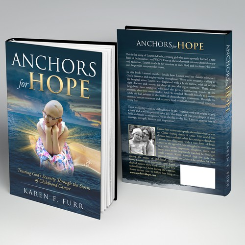 Dramatic design with the title 'Book about Childhood Cancer'
