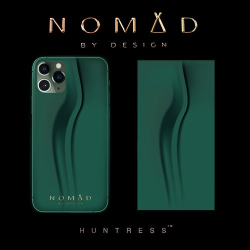 Minimal artwork with the title 'Mobile Case design for Nomad'