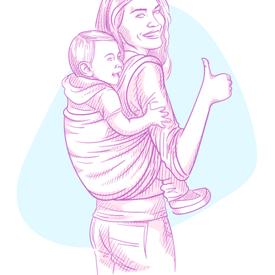 Mom and baby in a sling