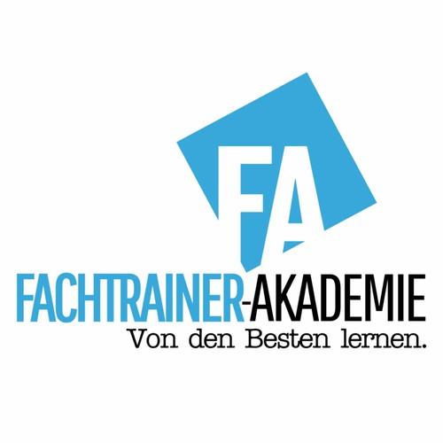 Academic design with the title 'Logo für Fachtrainer-Akademie'