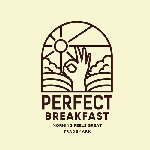 Eye-catching logo with the title 'PERFECT BREAKFAST'