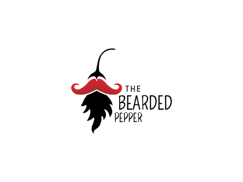 Pepper logo with the title 'Fun logo for The Bearded Pepper'