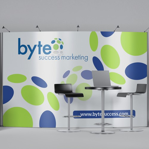 Booth design with the title 'Byte Success Booth Design'