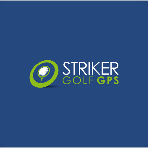 Ball logo with the title 'Striker Golf GPS needs a new logo'