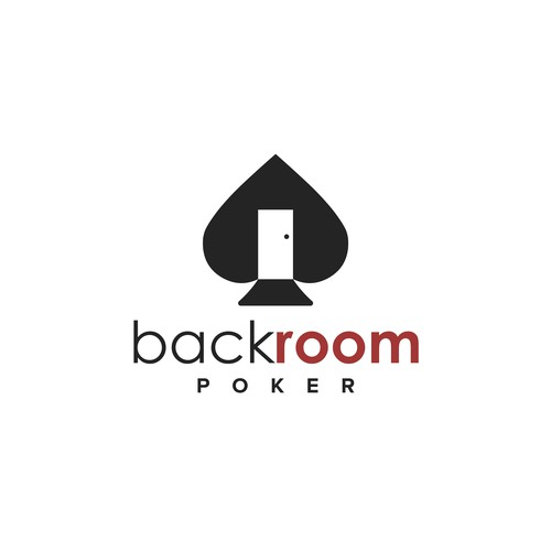 Door logo with the title 'back room poker'