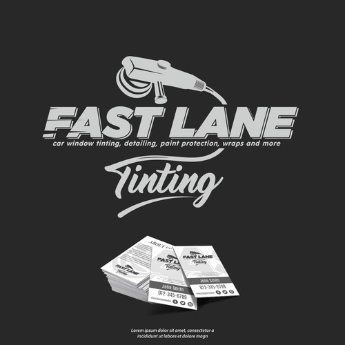 Mechanical logo with the title 'Car Window Tinting Logo'