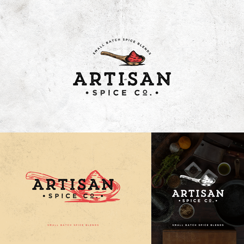 Spice logo with the title 'Logo Design Entry for Artisan Spice Co.'