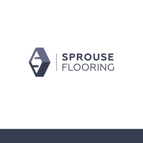 Hardwood logo with the title 'logo concept for Sprouse Flooring'