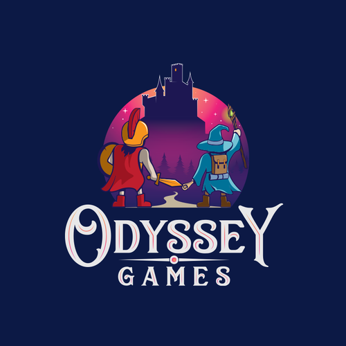 Wizard design with the title 'Odyssey Games'