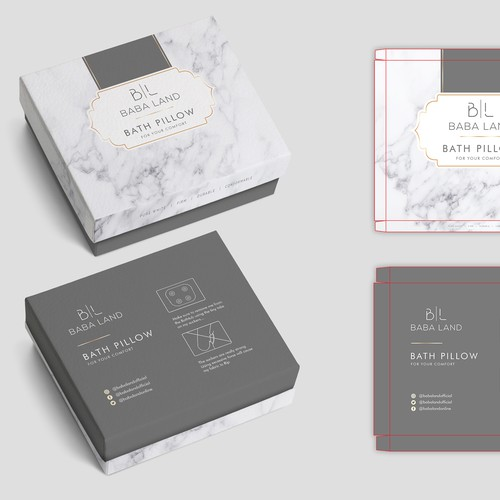 Skincare packaging with the title 'package and Logo design'