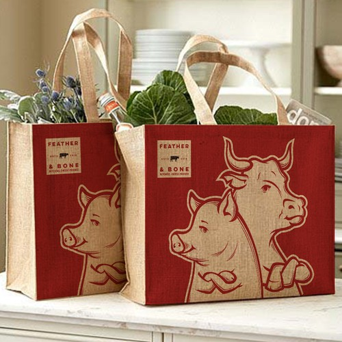 Shopping bag packaging with the title 'SHOPPING BAG'