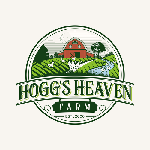 Heaven logo with the title 'HEAVENLY ILLUSTRATION FOR FARM LOGO'