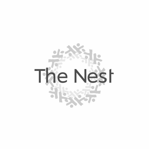 Hostel design with the title 'The Nest Living Share Comunnities'