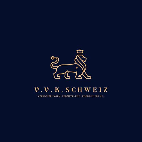 Insurance broker logo with the title 'VVK'