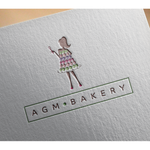 Macaron design with the title 'Bakery Logo'