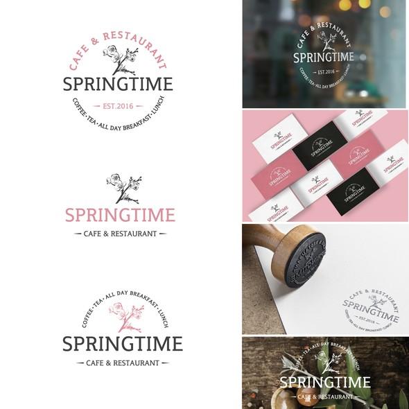 Blossom logo with the title 'Springtime cafe'