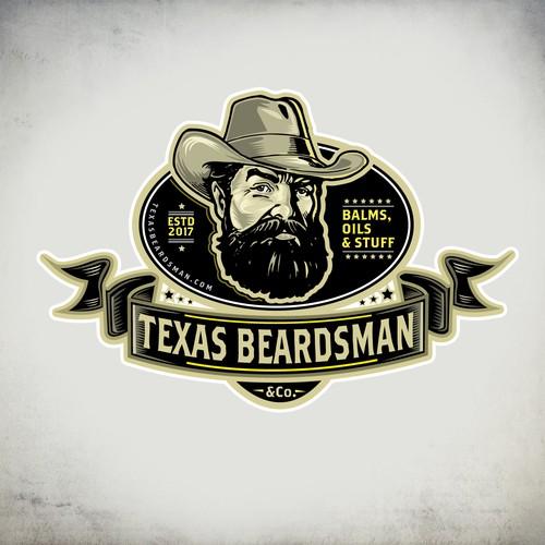 Scanning logo with the title 'Beard cosmetics logo'