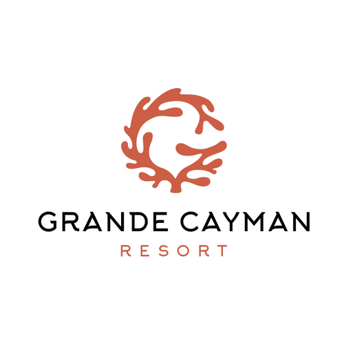Coral design with the title 'Grande Cayman Resort'