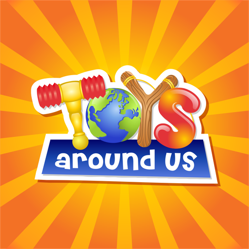 Kid design with the title 'Toys Around Us'