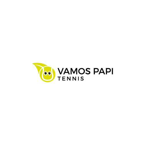 Tennis ball logo with the title 'Vamos Papi Tennis'