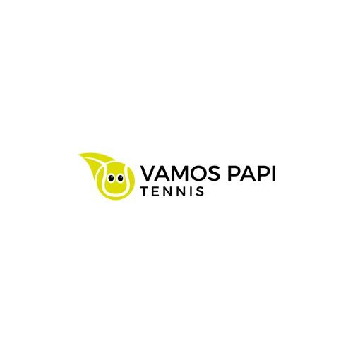 Badminton logo with the title 'Vamos Papi Tennis'