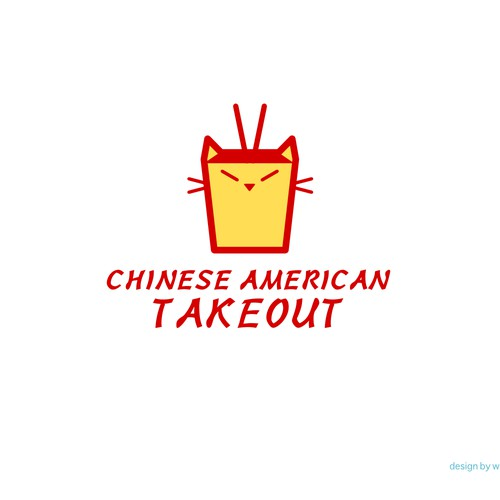 Chinese food design with the title 'Logo design for Chinese American Takeout'