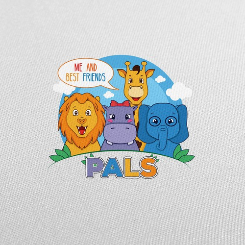 Giraffe logo with the title 'Pals - Me and my best friends'