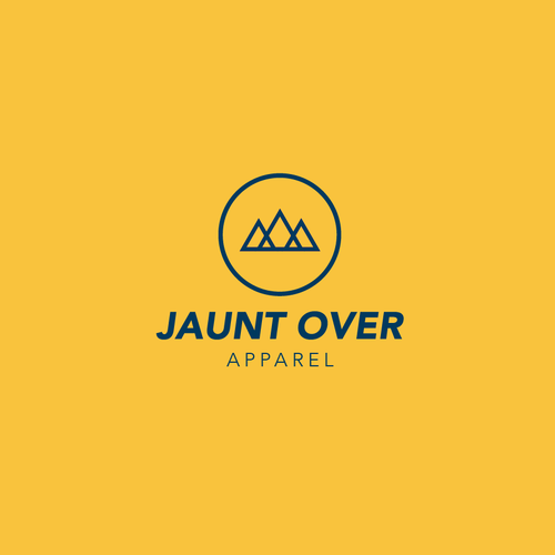 Backpack logo with the title 'Janunt Over Apparel Logo'