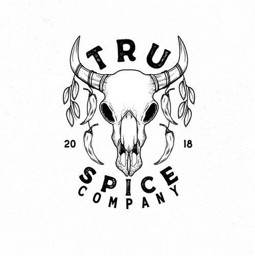 Buffalo logo with the title 'Tru Spice Company Logo Design'