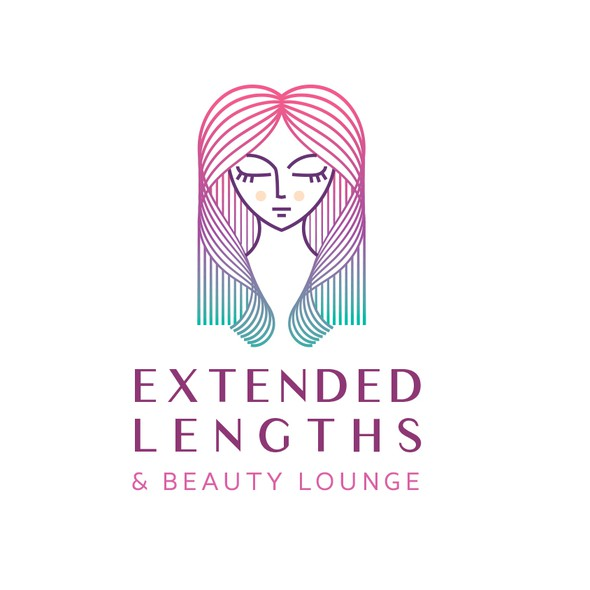 Hair extension logo with the title 'Extended Lengths Logo '