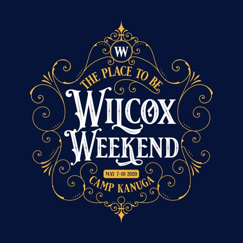 Acoustic design with the title 'Wilcox Weekend'