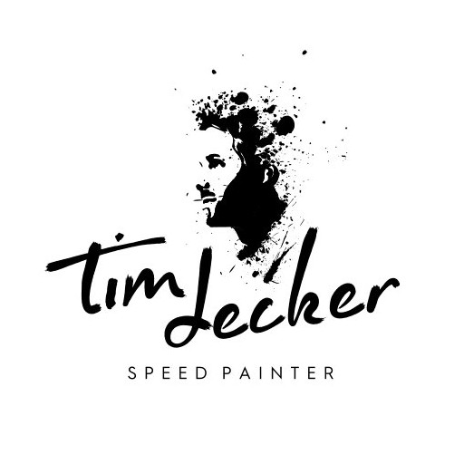 Chaos logo with the title 'Artistic logo concept for speed painter'